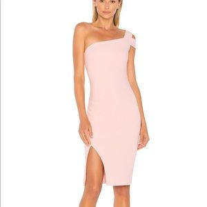 Likely Packard One Shoulder Cocktail Dress Peony